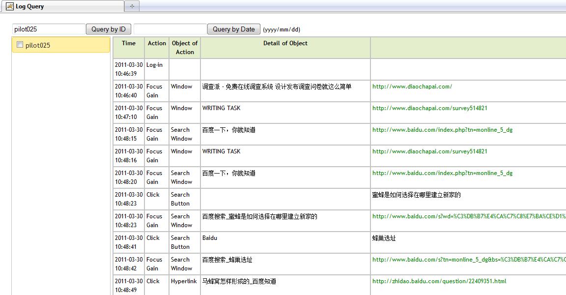 A Screenshot of Log File Retrieval in SCOOP