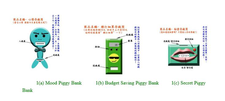 Piggy banks- three types of piggy banks
